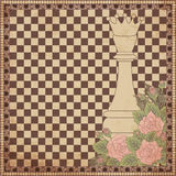 Vintage chess queen background Royalty Free Stock Photography