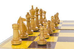 Vintage Chess Set Line Up Royalty Free Stock Photography