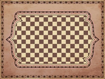 Vintage chessboard card Royalty Free Stock Photos