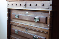 Vintage chest of drawers at an old home Stock Photo