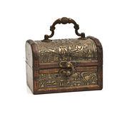 Vintage chest  on white Stock Photography