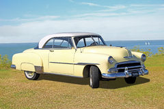 Vintage chevrolet belair. Photo of a 1951 vintage chevrolet belair being displayed on tankerton slopes in whitstable kent during summer classic car show 2015 royalty free stock image
