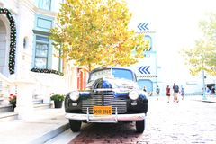 Vintage Chevrolet car classic setting Royalty Free Stock Photo