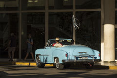 Vintage Chevrolet convertible taxi Havana Royalty Free Stock Photos