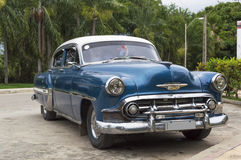 Vintage Chevrolet in Cuba. A well restored Chevy from the 50's parked in Guantanamo, Cuba Royalty Free Stock Image