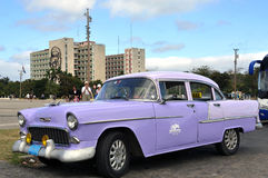 Vintage Chevrolet in Havana Royalty Free Stock Photography
