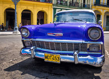 Vintage Chevrolet parked in Havana Stock Images