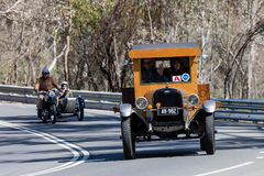 Vintage 1926 Chevrolet Superior K truck driving on country road. Adelaide, Australia - September 25, 2016: Vintage 1926 Chevrolet Superior K truck driving on Royalty Free Stock Images