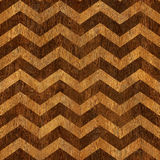 Vintage chevron pattern - seamless background - wooden texture Stock Photography