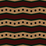 Vintage Chevron Pattern. This pattern use zigzag and round Vector Illustration