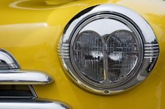 Vintage Chevy Automobile Headlight Stock Photography
