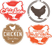 Vintage Chicken Menu Stamps Royalty Free Stock Photo