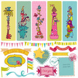 Vintage Child Set Royalty Free Stock Images