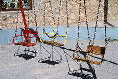 Vintage Children's Swings Royalty Free Stock Photos