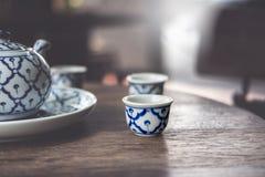Vintage China Ceramic, Chinese Porcelain, Tea set.  stock image