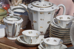 Vintage china coffee set Stock Photography