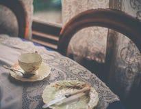 Vintage tea set Stock Images