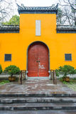 The vintage Chinese building. The building of temple in China stock images