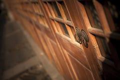 Vintage Chinese Door Stock Photo