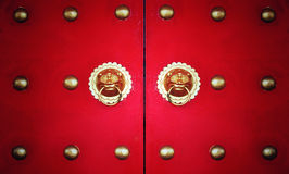 Vintage chinese door Stock Photography