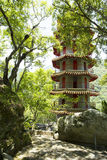 Vintage Chinese Pagoda in the mountain Royalty Free Stock Images