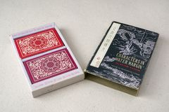 Vintage Chinese Playing Card Box Royalty Free Stock Photography