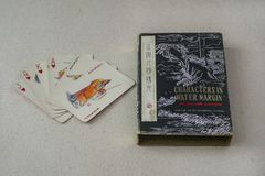 Vintage Chinese Playing Cards Stock Images