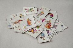 Vintage Chinese Playing Cards Stock Photography