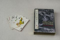 Vintage Chinese Playing Cards Stock Photo