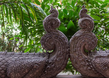 Vintage Chinese stone dragon statue Stock Image
