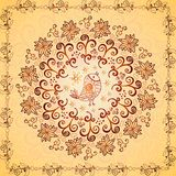 Vintage chocolate and cream ornament background Stock Photo