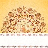 Vintage chocolate and cream ornament background Stock Photos