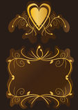 Vintage Chocolate Gold_eps Royalty Free Stock Photography