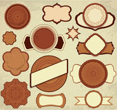 Vintage chocolate labels set in brown and beige colors Royalty Free Stock Photos