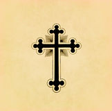 Vintage christian cross on paper Stock Image