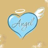 Vintage Christian design – Angel. Vintage graphic t shirt design angel heart royalty free illustration