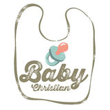 Vintage Christian design – Baby Royalty Free Stock Photography