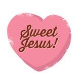 Vintage Christian design, Sweet Jesus Stock Photo