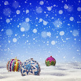 Vintage Christmas abstract blue background Royalty Free Stock Photos
