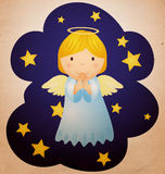 Vintage christmas angel Royalty Free Stock Photo