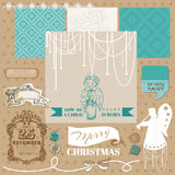 Vintage Christmas Angel Set Stock Image