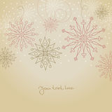 Vintage Christmas background. With snowflakes Royalty Free Stock Photography