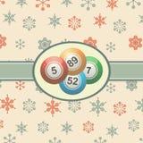 Vintage Christmas background with bingo balls Stock Photography