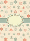 Vintage christmas background border Stock Photo
