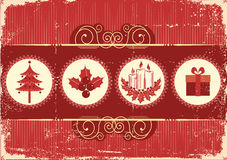 Vintage christmas background card for holiday Royalty Free Stock Images