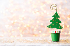 Vintage Christmas background with Christmas decoration. Royalty Free Stock Image