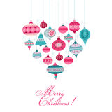 Vintage Christmas Background - with christmas tree Stock Images