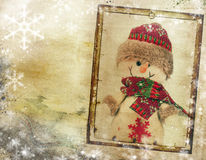 Vintage Christmas background with copy space Stock Photography