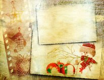 Vintage Christmas background with copy space Stock Photos