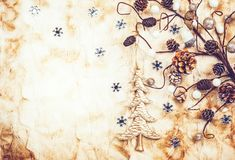 Vintage Christmas background. With decorations Stock Image